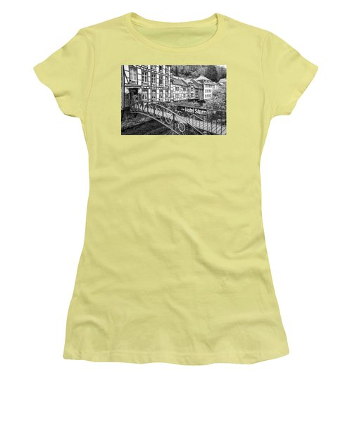 Monschau In Germany Women's T-Shirt (Junior Cut) by Jeremy Lavender Photography