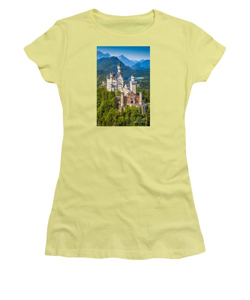Neuschwanstein Fairytale Castle Women's T-Shirt (Athletic Fit)