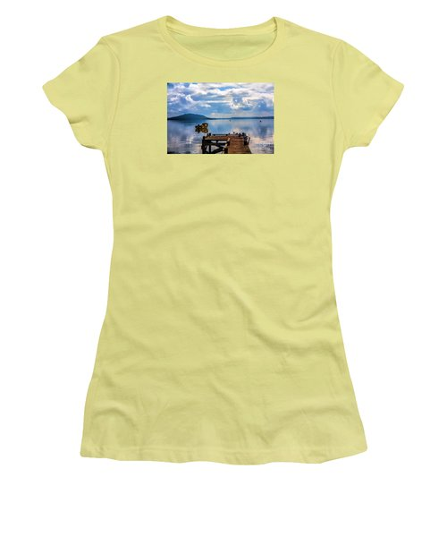 Women's T-Shirt (Junior Cut) featuring the photograph Quiet Lake by Rick Bragan