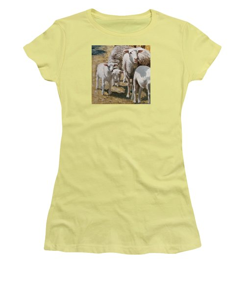 The Whole Family Is Here Women's T-Shirt (Junior Cut) by John Reynolds