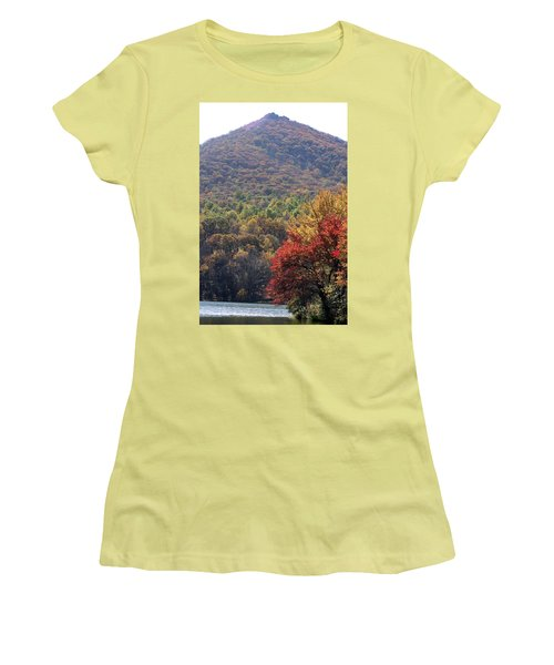 View Of Abbott Lake And Sharp Top In Autumn Women's T-Shirt (Athletic Fit)
