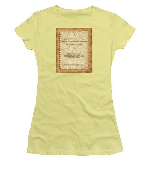 41- The Four Agreements Women's T-Shirt (Junior Cut) by Joseph Keane