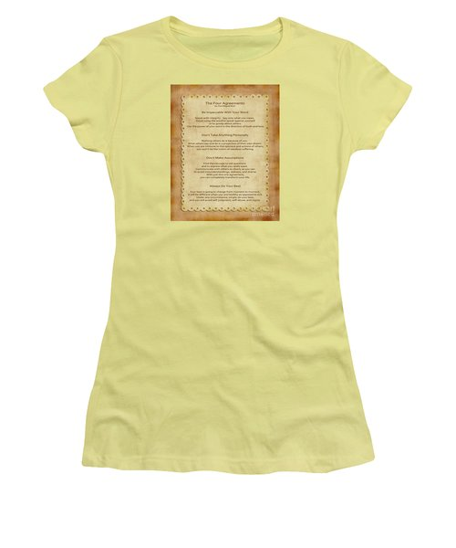 41- The Four Agreements Women's T-Shirt (Athletic Fit)