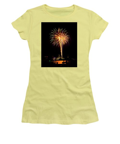 4th Of July Fireworks Women's T-Shirt (Junior Cut) by Bill Barber