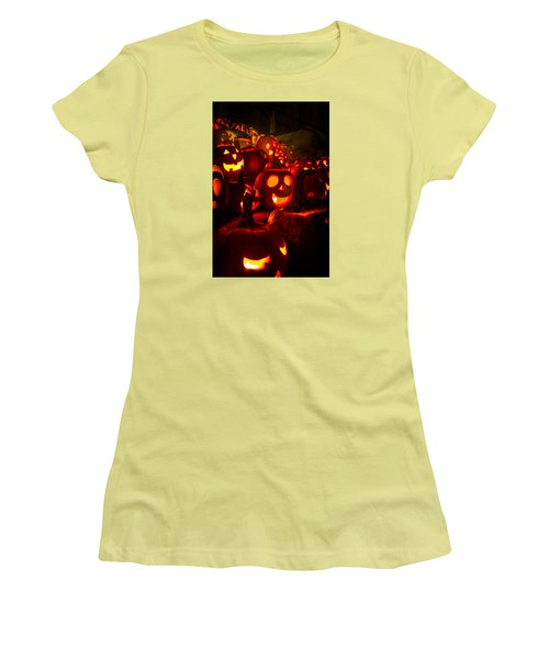 Women's T-Shirt (Junior Cut) featuring the photograph Pumpkinfest 2015 by Robert Clifford
