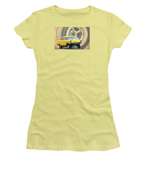 57 Gasser Women's T-Shirt (Junior Cut) by Steve McKinzie
