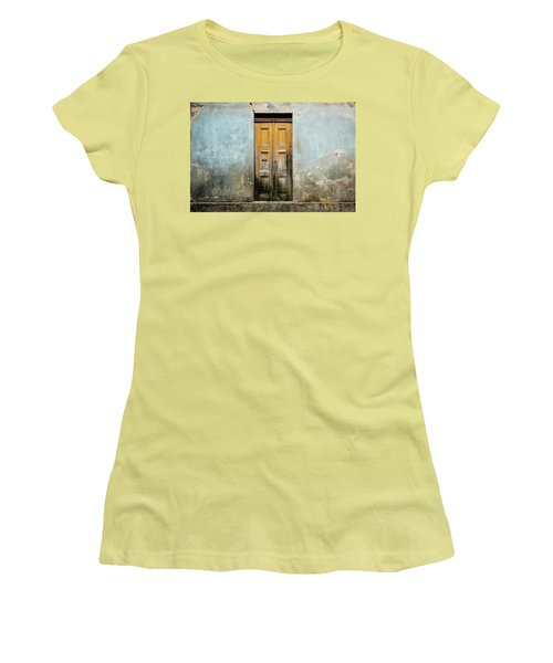 Women's T-Shirt (Junior Cut) featuring the photograph Door With No Number by Marco Oliveira