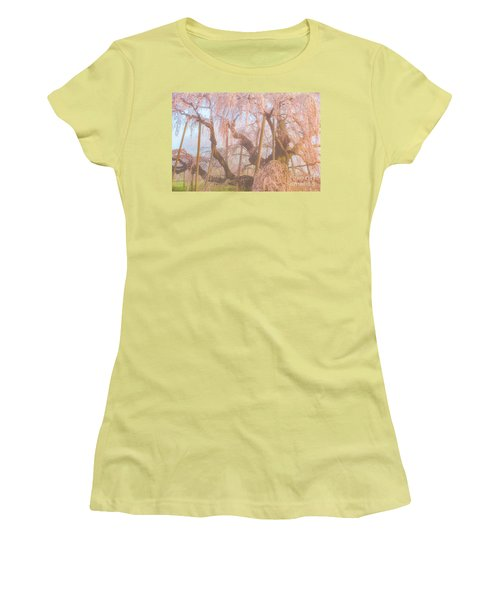Women's T-Shirt (Athletic Fit) featuring the photograph Miharu Takizakura Weeping Cherry07 by Tatsuya Atarashi