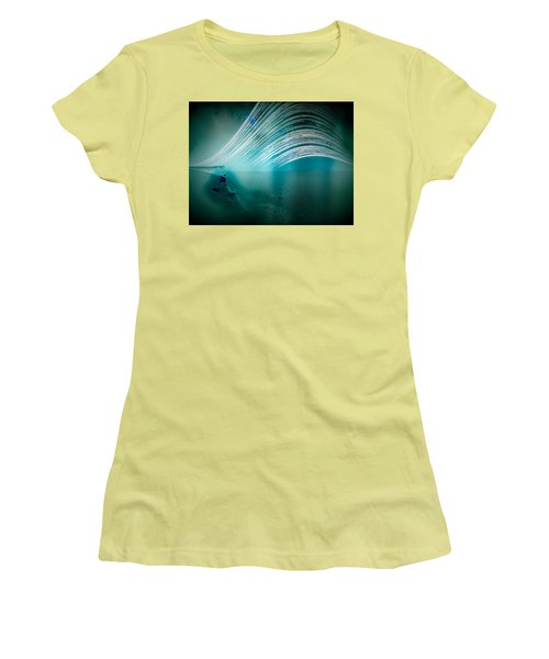 6 Month Exposure Overlooking The Beachy Head Lighthouse Women's T-Shirt (Athletic Fit)