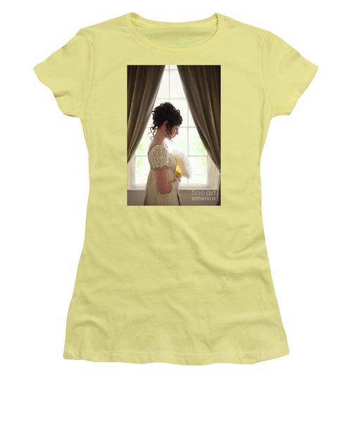 Regency Woman At The Window Women's T-Shirt (Junior Cut) by Lee Avison