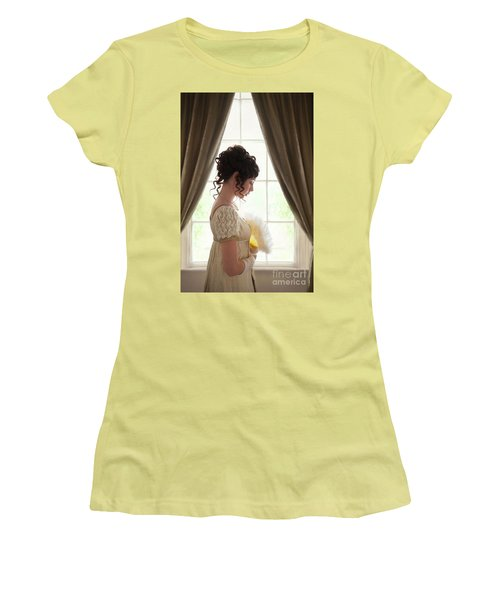 Regency Woman At The Window Women's T-Shirt (Athletic Fit)