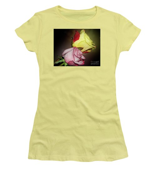 Women's T-Shirt (Junior Cut) featuring the photograph Roses by Elvira Ladocki