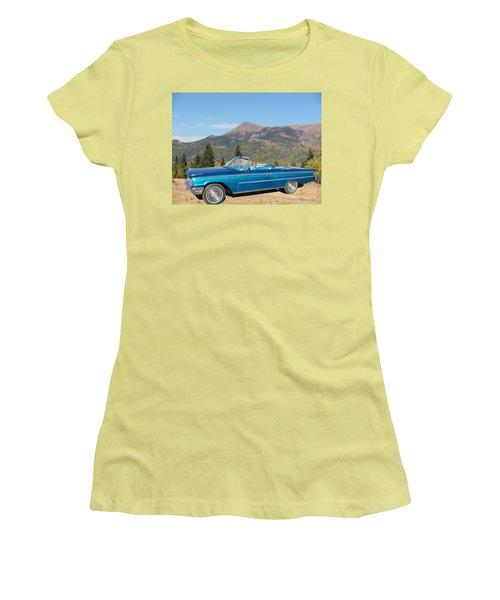 63 Ford Convertible Women's T-Shirt (Junior Cut) by Steven Parker