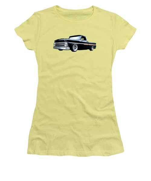 65 Chevy C-10 Stopping At Roy's On Route 66 Women's T-Shirt (Athletic Fit)