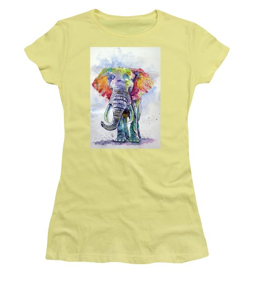 Colorful Elephant Women's T-Shirt (Athletic Fit)