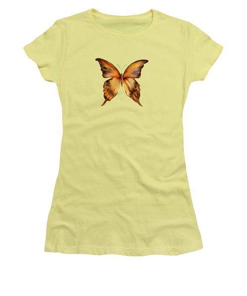 7 Yellow Gorgon Butterfly Women's T-Shirt (Junior Cut) by Amy Kirkpatrick