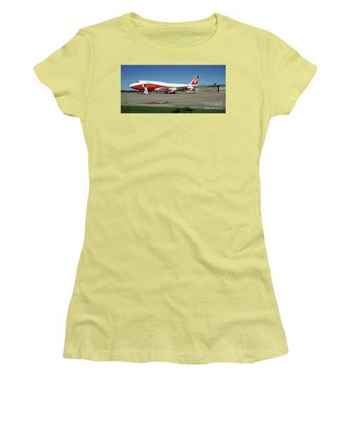 747 Supertanker Women's T-Shirt (Junior Cut) by Bill Gabbert