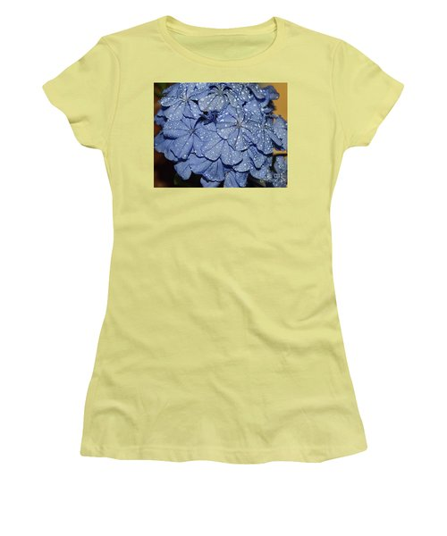 Blue Plumbago Women's T-Shirt (Athletic Fit)
