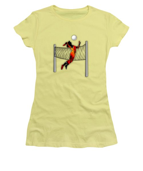 Vollyball Collection Women's T-Shirt (Junior Cut) by Marvin Blaine