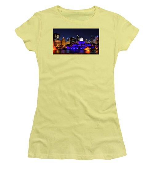 911 Tribute At Buckingham Fountain, Chicago Women's T-Shirt (Junior Cut) by Zawhaus Photography