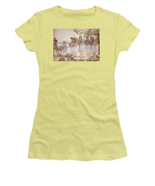 The Wedding Album  Women's T-Shirt (Junior Cut) by Debbi Saccomanno Chan