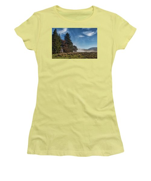 Women's T-Shirt (Athletic Fit) featuring the photograph A Beautiful Scottish Morning by Jeremy Lavender Photography
