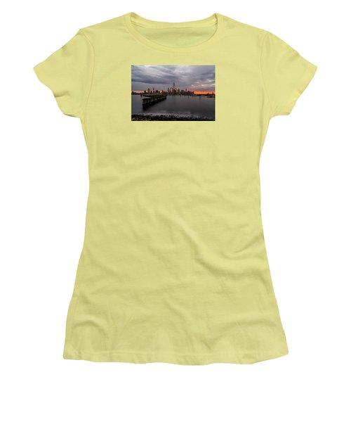 A Blaze Of Glory Women's T-Shirt (Junior Cut) by Anthony Fields