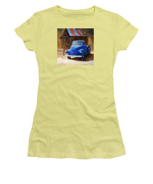 A Blue Chevrolet Women's T-Shirt (Athletic Fit)
