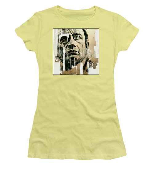 Women's T-Shirt (Junior Cut) featuring the painting A Boy Named Sue by Paul Lovering
