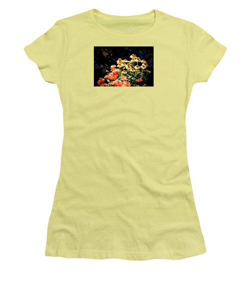 A Bright Flower Patch Women's T-Shirt (Athletic Fit)
