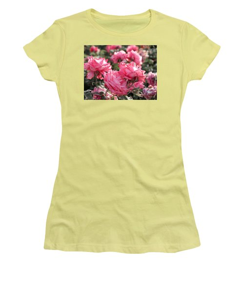 Women's T-Shirt (Junior Cut) featuring the photograph A Bunch Of Pink by Laurel Powell