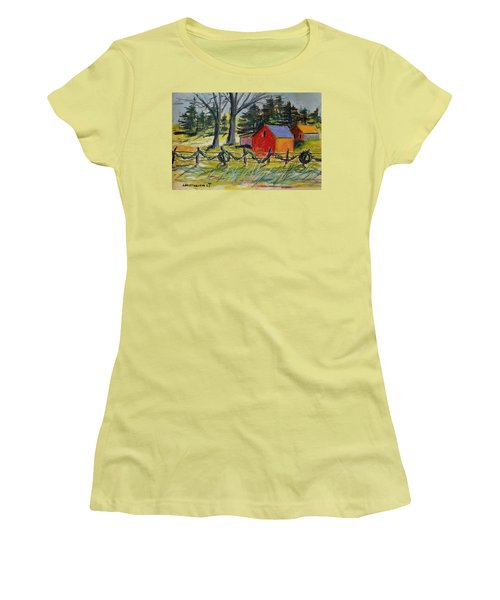 Women's T-Shirt (Junior Cut) featuring the painting A Change Of Season by John Williams
