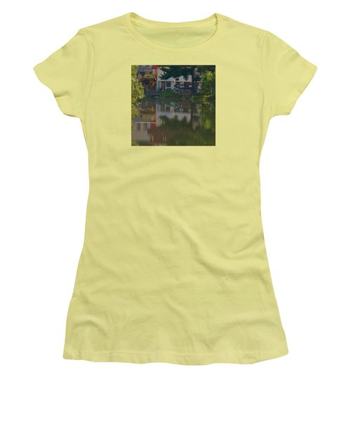 Women's T-Shirt (Junior Cut) featuring the photograph A Cities Reflection by Ramona Whiteaker