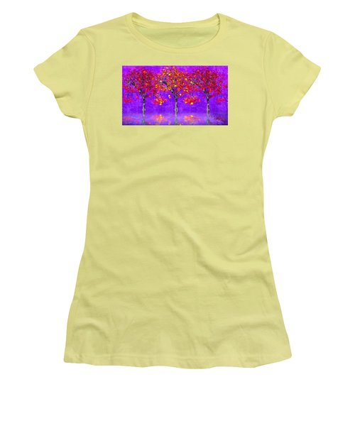 A Colorful Autumn Rainy Day Women's T-Shirt (Athletic Fit)