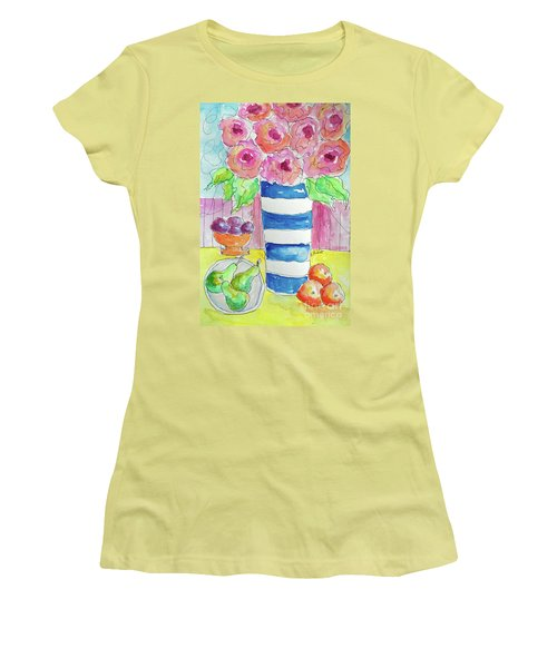 Women's T-Shirt (Junior Cut) featuring the painting Fruit Salad by Rosemary Aubut
