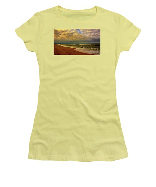 Women's T-Shirt (Junior Cut) featuring the photograph A Congregation Of Clouds by John Harding