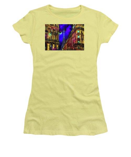 A Corner In Paris Women's T-Shirt (Athletic Fit)