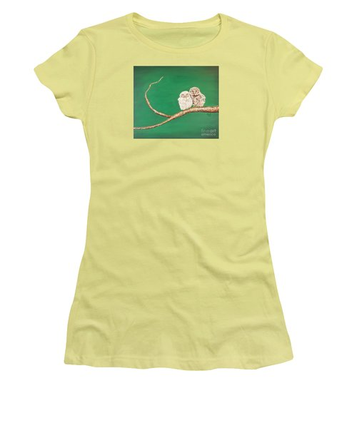 A Couple Of Owls Women's T-Shirt (Athletic Fit)