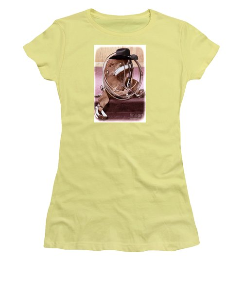 Women's T-Shirt (Junior Cut) featuring the photograph A Cowboy's Gear by Lawrence Burry