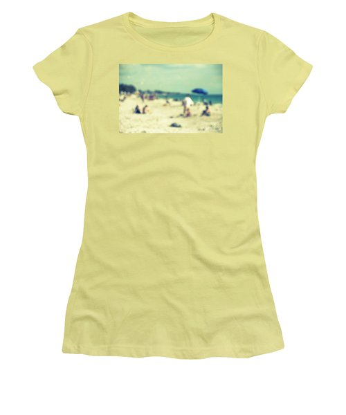 Women's T-Shirt (Junior Cut) featuring the photograph a day at the beach I by Hannes Cmarits