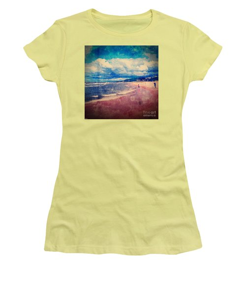 Women's T-Shirt (Junior Cut) featuring the photograph A Day At The Beach by Phil Perkins