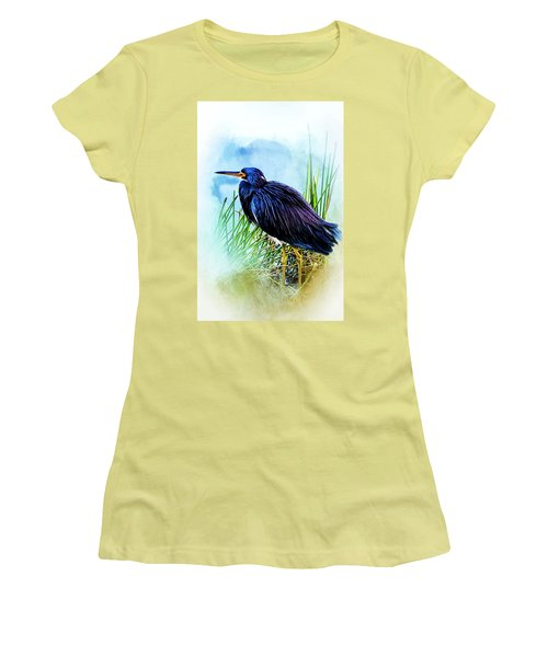 A Day In The Marsh Women's T-Shirt (Junior Cut) by Cyndy Doty
