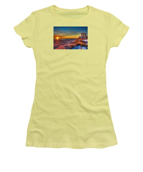 A December Beach Sunset Women's T-Shirt (Athletic Fit)