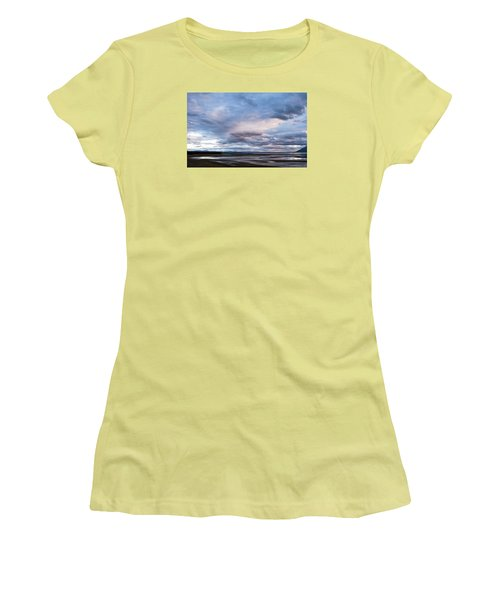 Women's T-Shirt (Junior Cut) featuring the photograph A Dry Jackson Lake by Monte Stevens