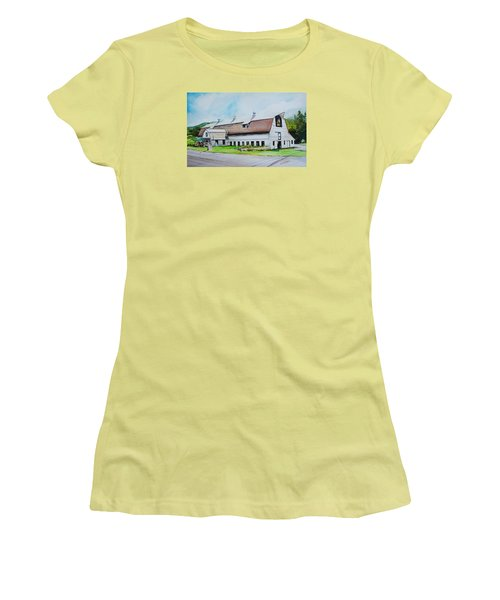 A Farmstand  In The Berkshires Women's T-Shirt (Junior Cut) by P Anthony Visco