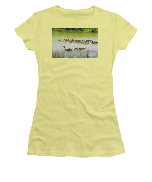 A Flotilla Of Geese Women's T-Shirt (Athletic Fit)