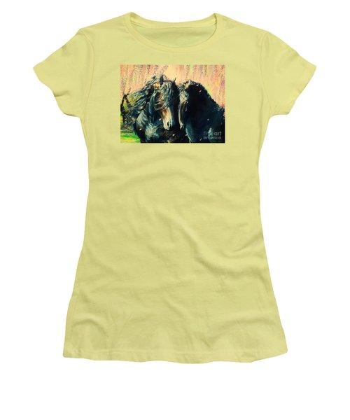 A Friesian Romance Women's T-Shirt (Athletic Fit)