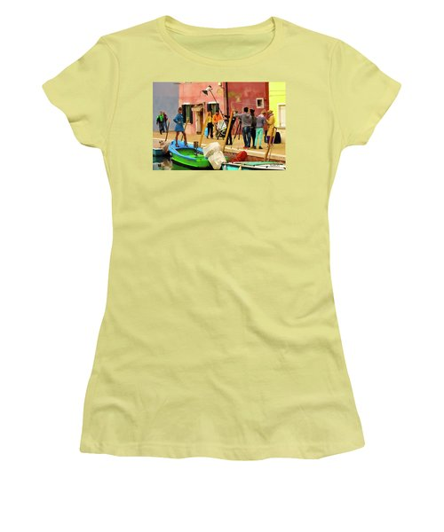 A Glamour Shoot In Burano Women's T-Shirt (Athletic Fit)