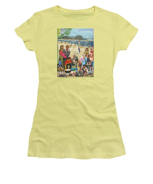 A Heavenly Day - Lumley Beach - Sierra Leone Women's T-Shirt (Athletic Fit)