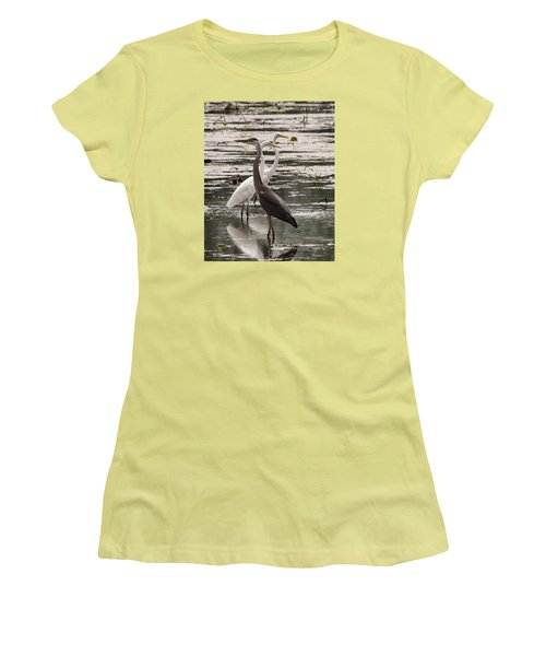 A Heron And Two Egrets Women's T-Shirt (Athletic Fit)